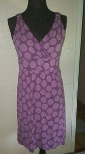 Merona Purple Floral Pattern Stretch Dress